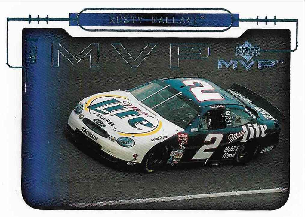 2000 Upper Deck MVP Rusty Wallace #63 card front image