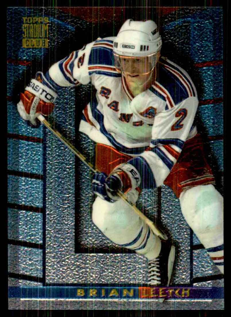1994-95 Stadium Club Finest Inserts Brian Leetch #7 card front image