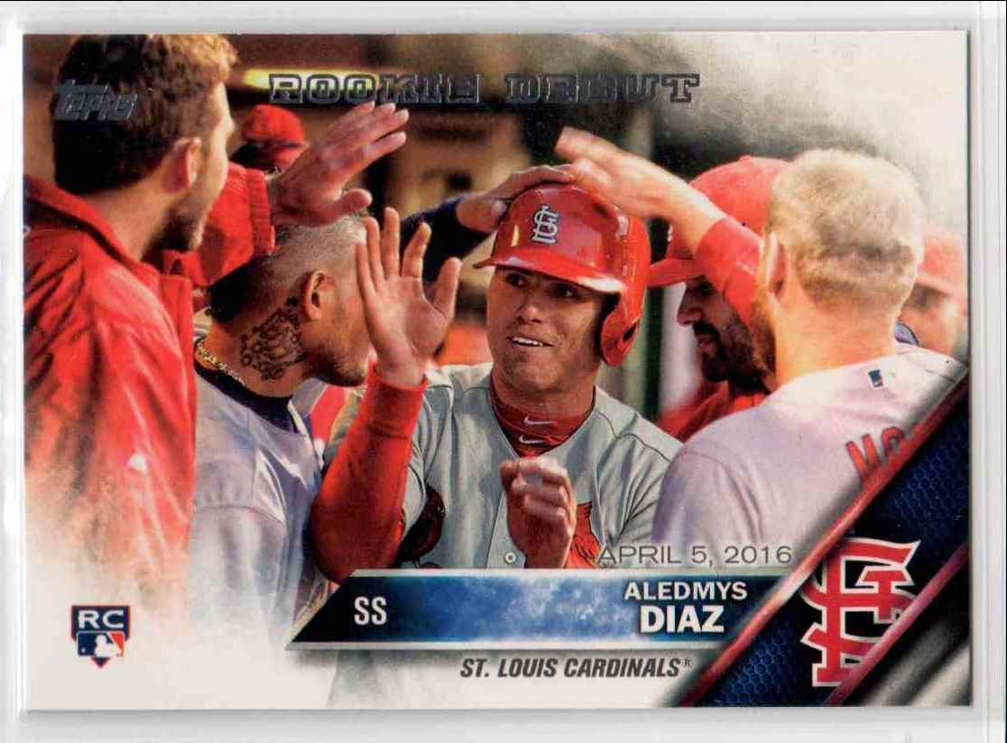 2016 Topps Update Aledmys Diaz RD #US44 card front image