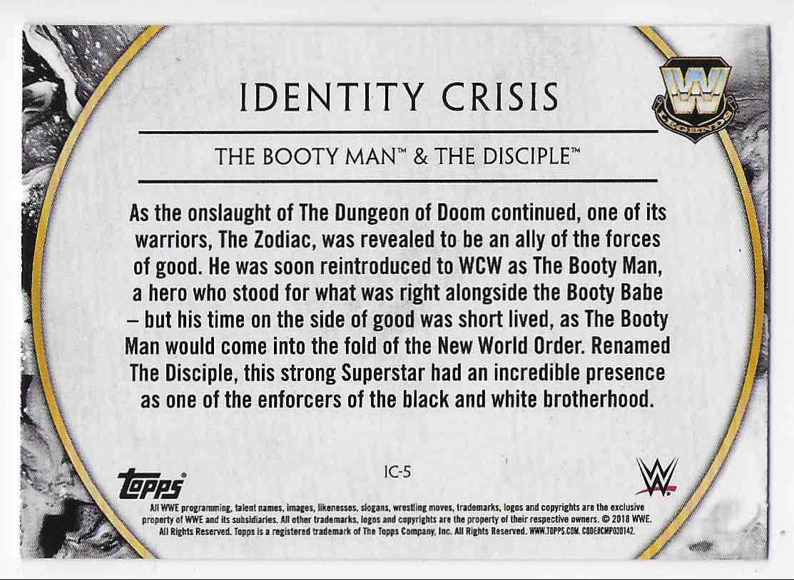 2018 Legends Of Wwe Identity Crisis The Booty Man & The Disciple #5 card back image