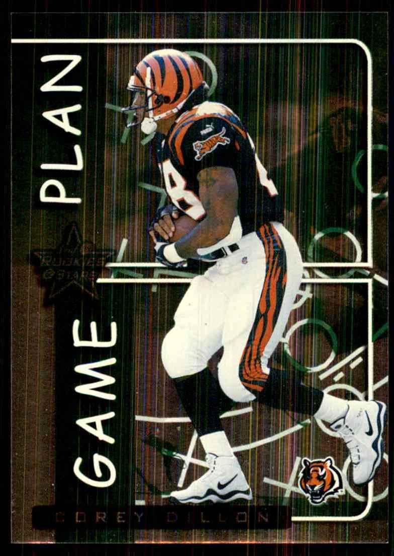 1999 Leaf Rookies & Stars Game Plan Corey Dillon #GP8 card front image