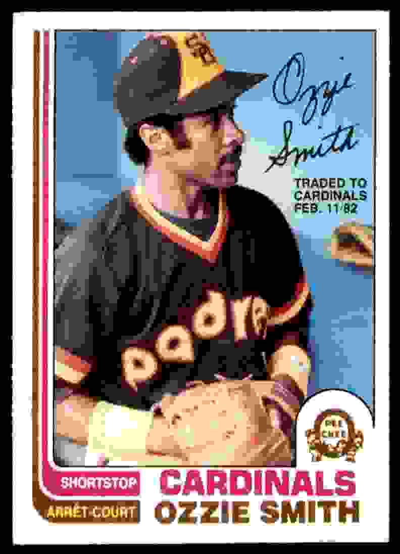 1982 O-Pee-Chee ! Ozzie Smith #95 card front image