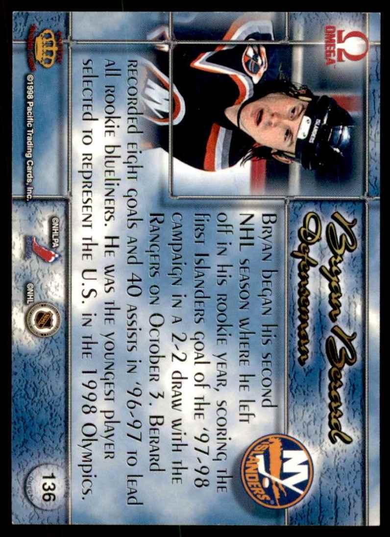 1997-98 Pacific Omega Bryan Berard #136 card back image
