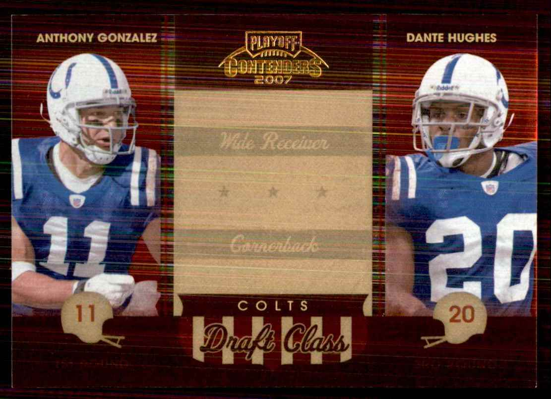 2007 Playoff Contenders Draft Class Anthony Gonzalez/Daymeion Hughes #15 card front image