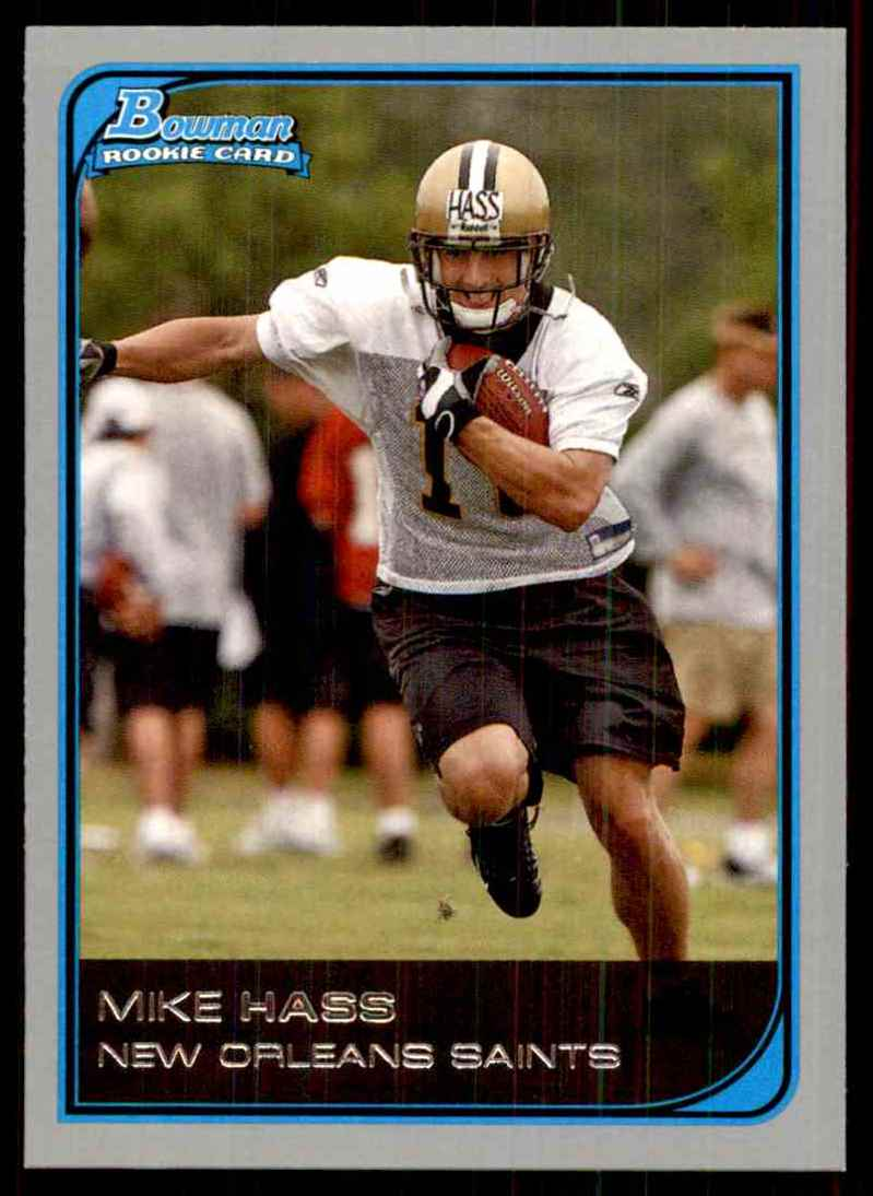 2006 Bowman Mike Hass RC #149 card front image