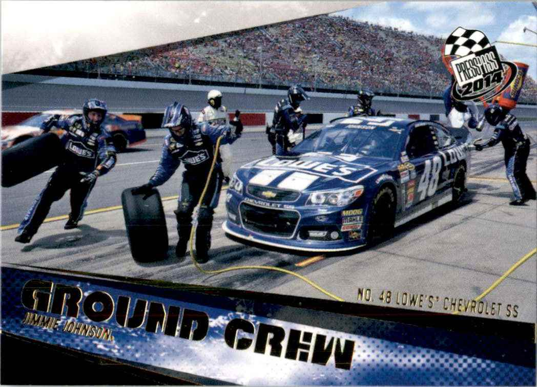 2014 Press Pass Gold Jimmie Johnson's Car Gc #69 card front image