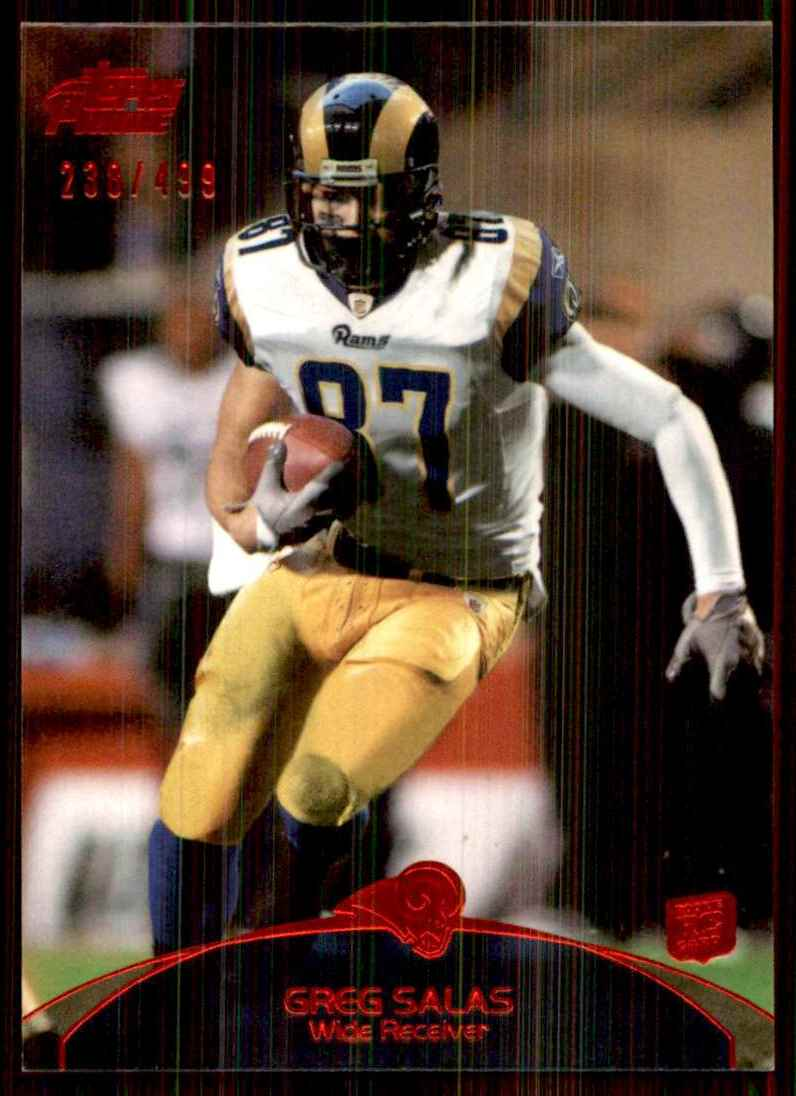 2011 Topps Prime Red Greg Salas #54 card front image