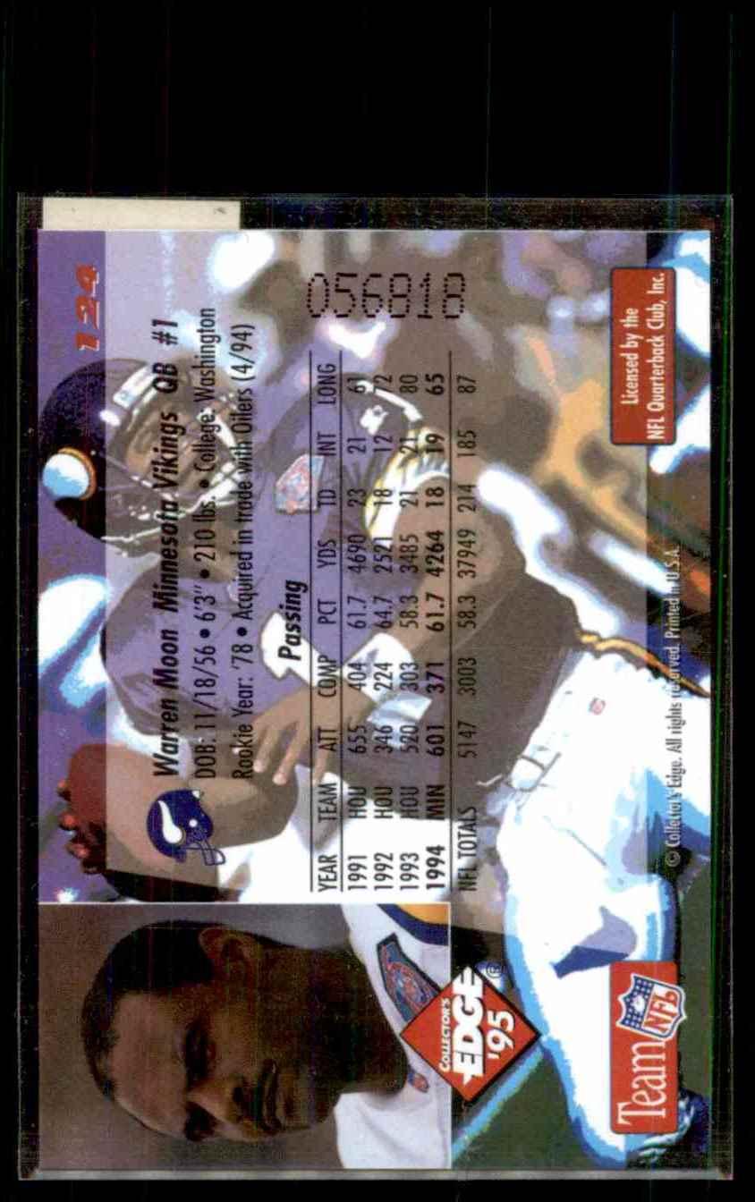 1995 Collector's Edge Gold Logo Warren Moon #124 card back image