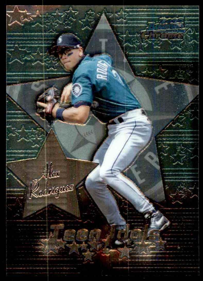 2000 Bowman Chrome Teen Idols Alex Rodriguez #TI1 card front image