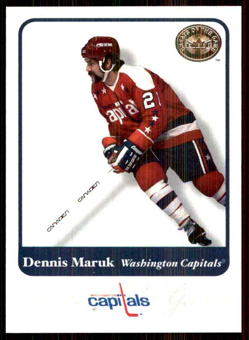 2001-02 Fleer Greats Of The Game Dennis Maruk #6 card front image