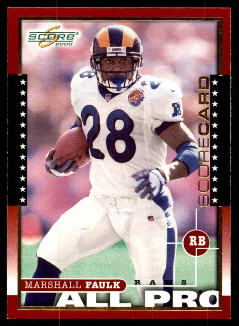 2000 Score Scorecard Marshall Faulk #247 card front image