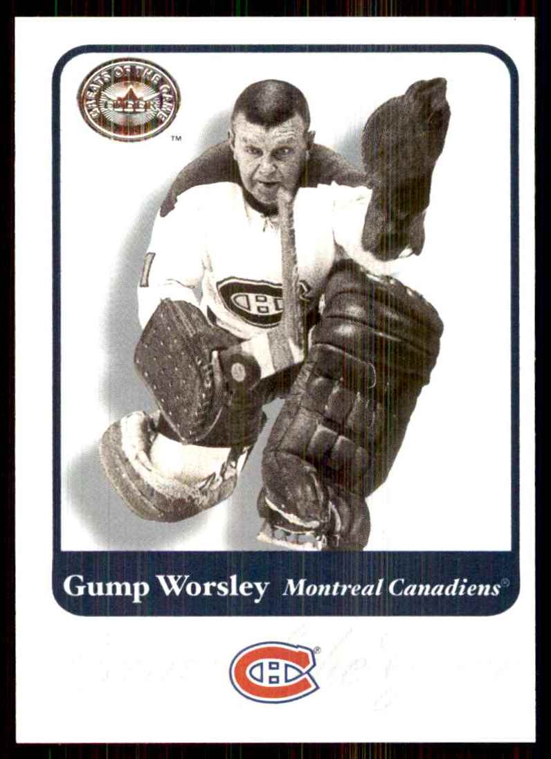 2001-02 Fleer Greats Of The Game Gump Worsley #88 card front image