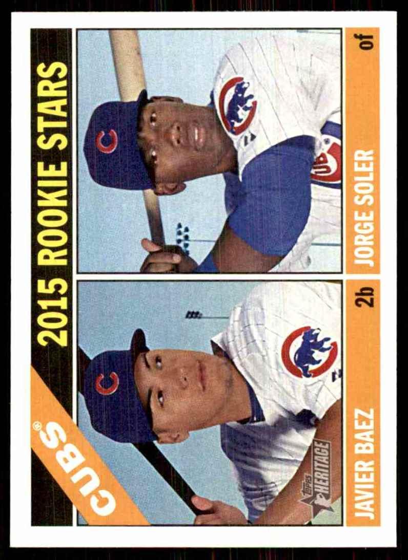 2015 Topps Heritage Jorge Soler RC/Javier Baez RC #139 card front image