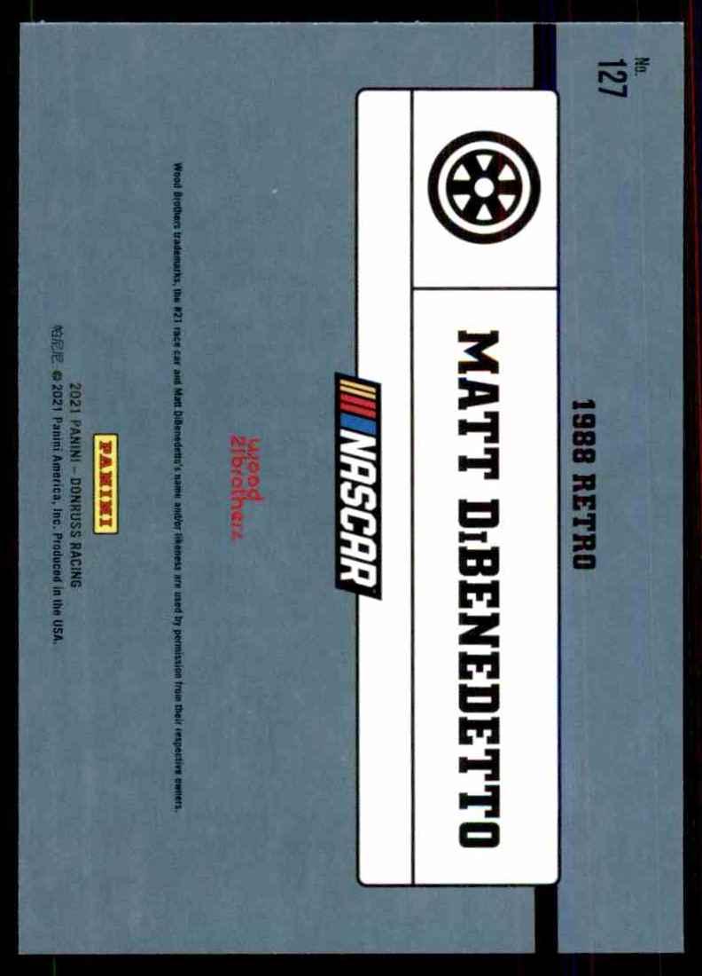 2021 Donruss Matt DiBenedetto Retro #127 card back image