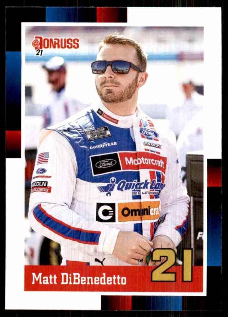 2021 Donruss Matt DiBenedetto Retro #127 card front image