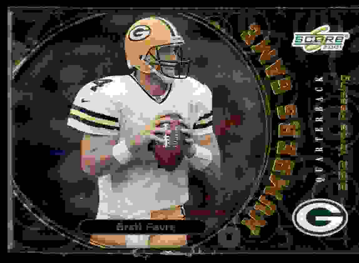 2001 Score Numbers Game Brett Favre #NG1 card front image