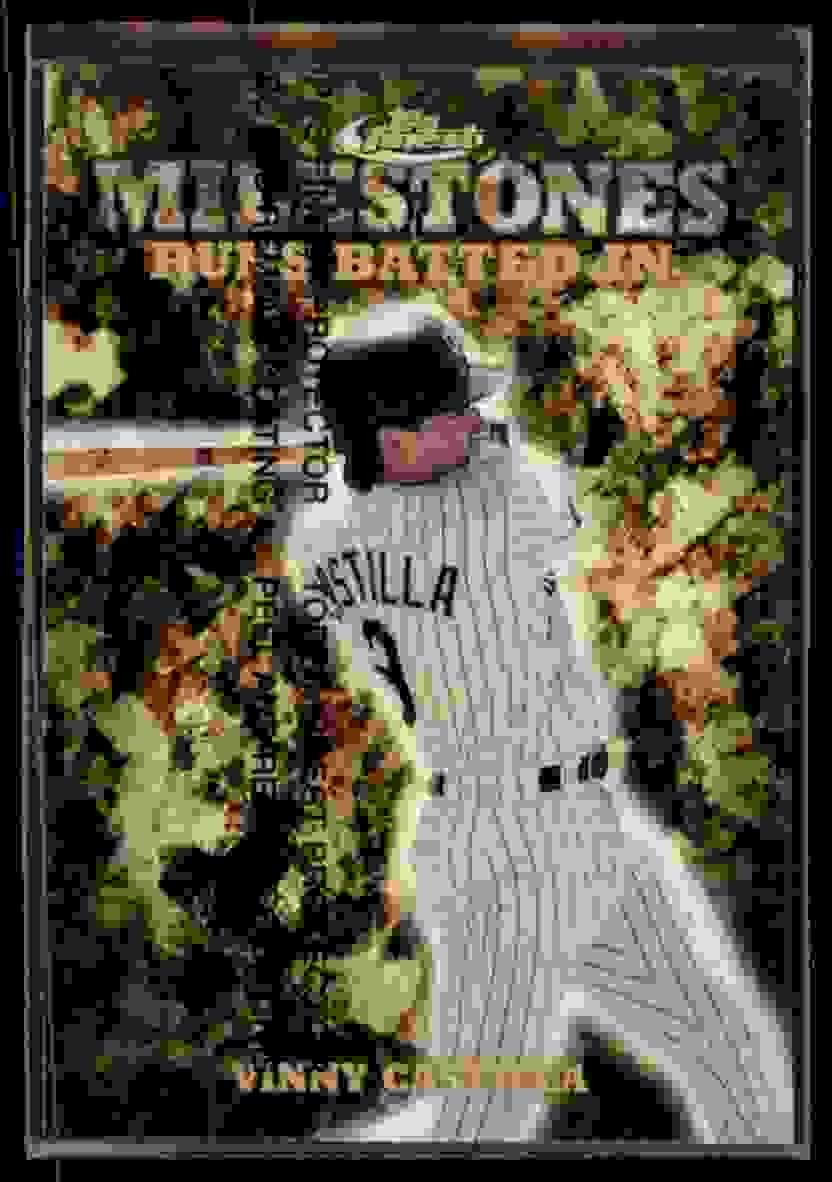 1999 Finest Milestones Vinny Castilla #M26 card front image