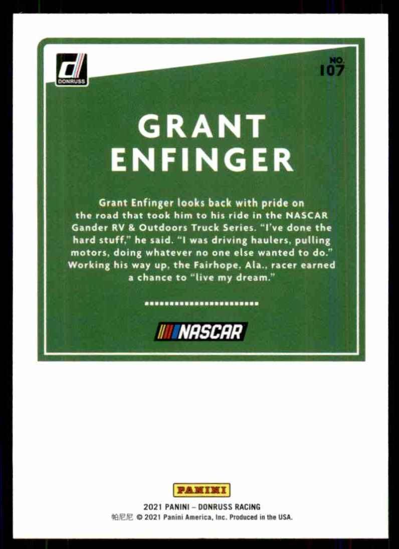 2021 Donruss Grant Enfinger #107 card back image