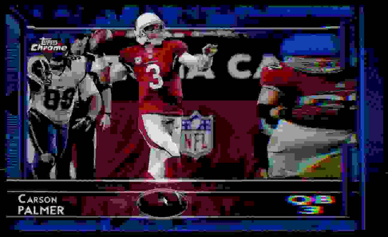 2015 Topps  Chrome Carson Palmer card front image