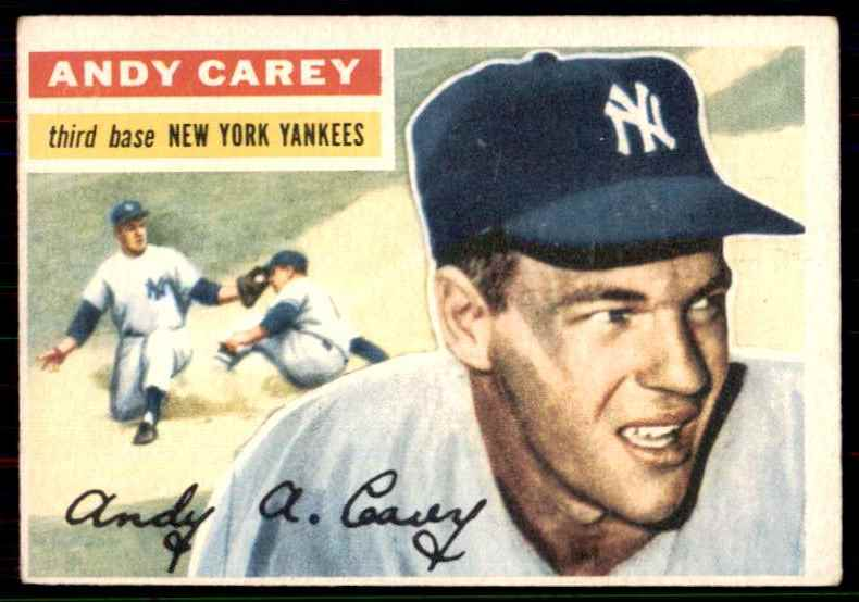 1956 Topps Set Break2 Vg EX (Wb) Andy Carey #12 card front image