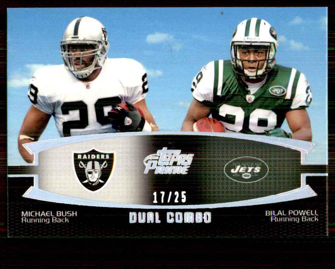 2011 Topps Prime Dual Silver Holofoil Michael Bush/Bilal Powell #BP card front image