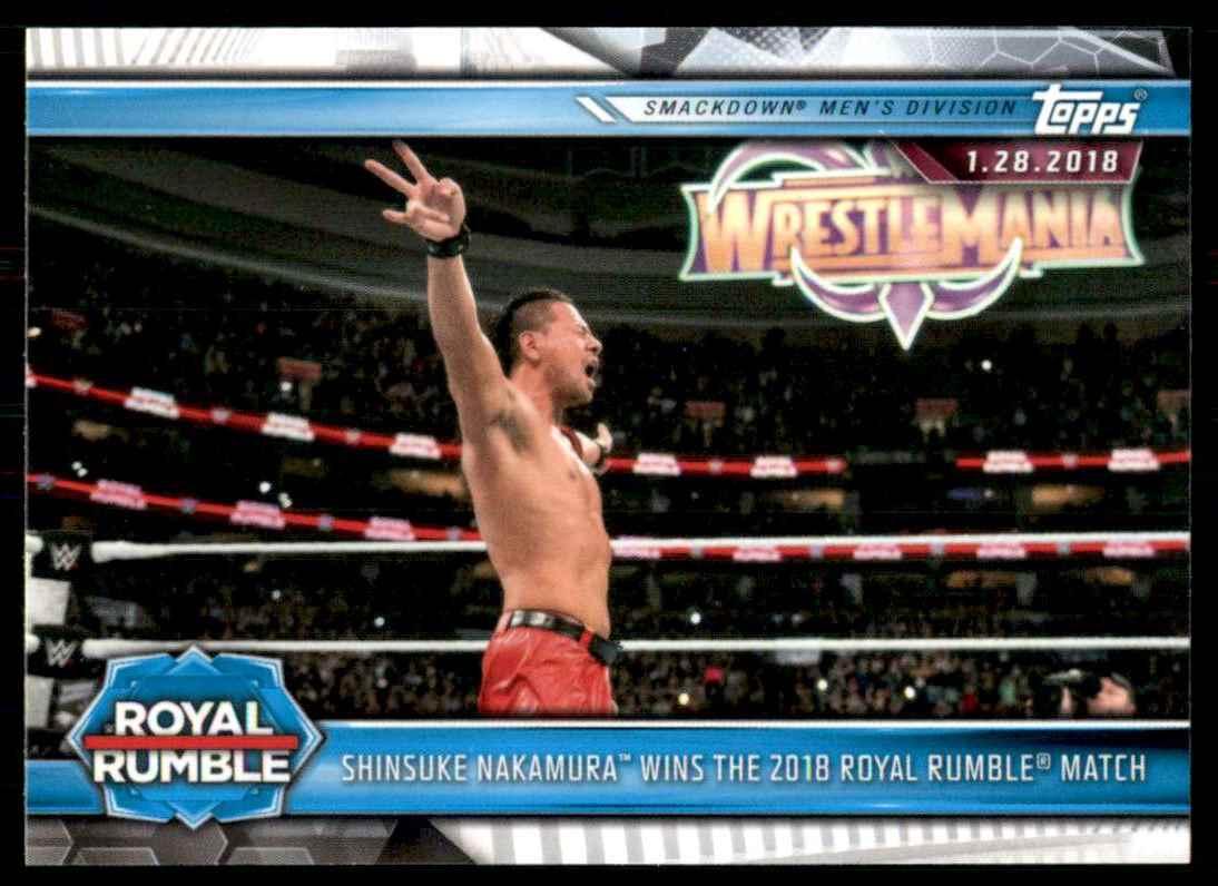 2019 Topps Wwe Road To WrestleMania Shinsuke Nakamura Wins The 2018 Royal Rumble Match #85 card front image