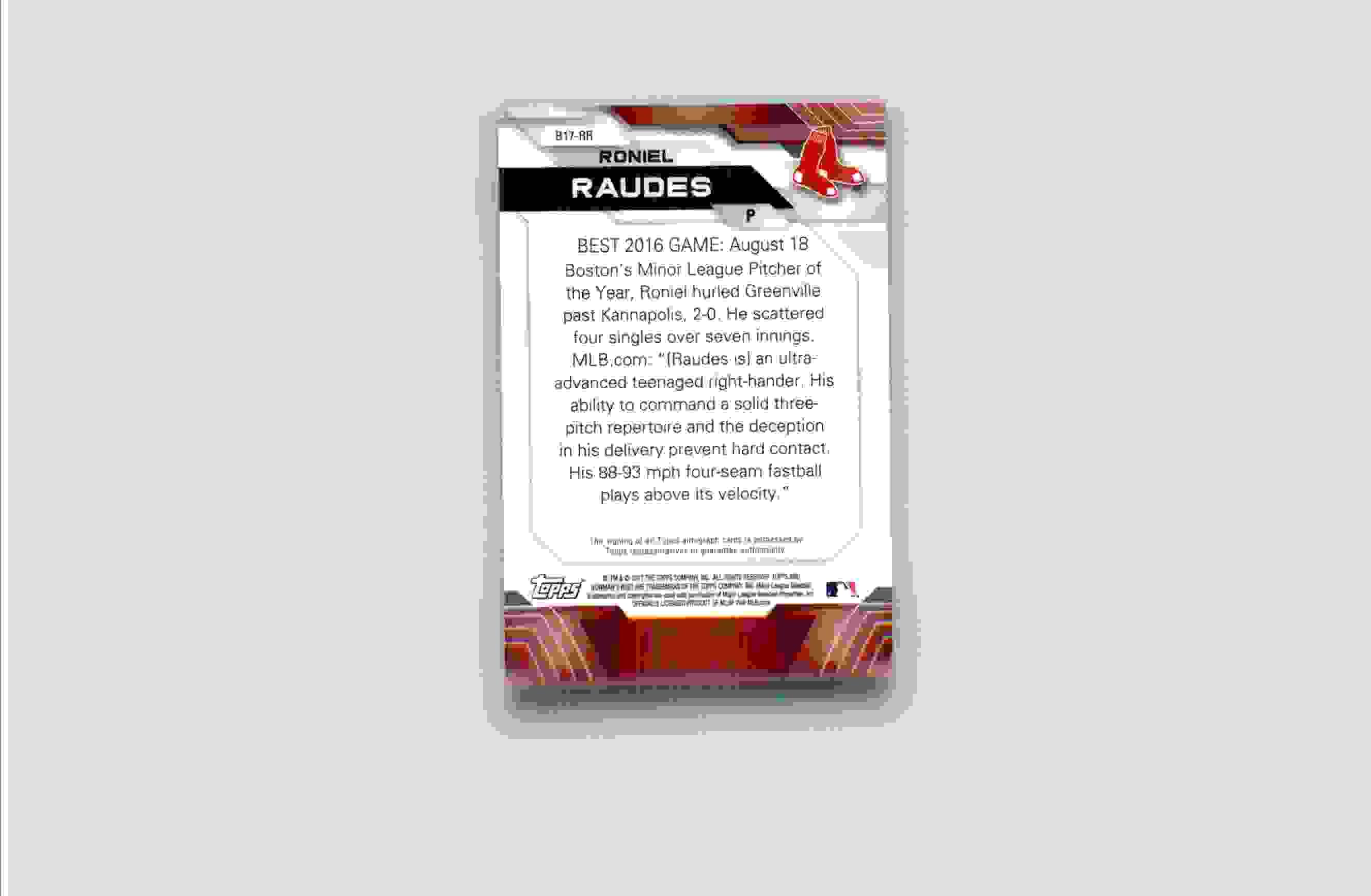 2017 Bowman's Best Roniel Raudes #B17-RR card back image