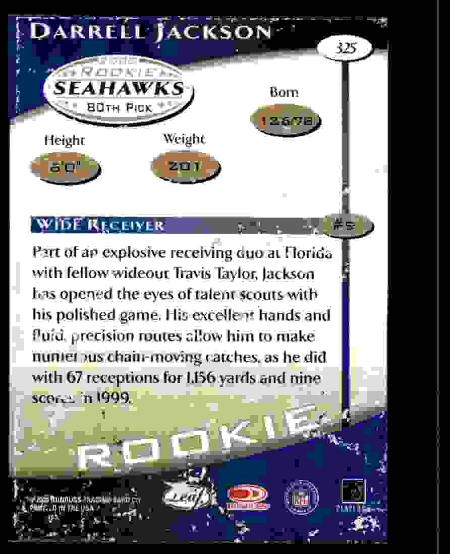 2000 Quantum Leaf Darrell Jackson #325 card back image
