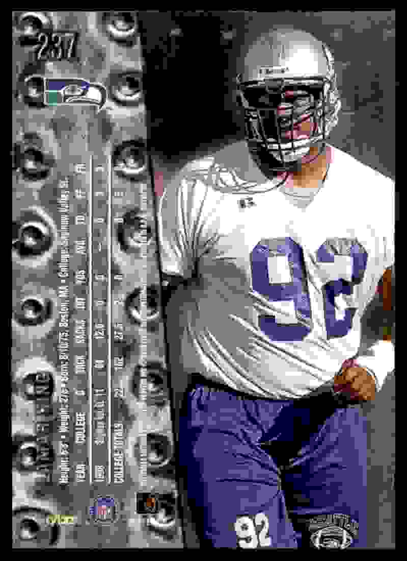 1999 Metal Universe Lamar King #237 card back image