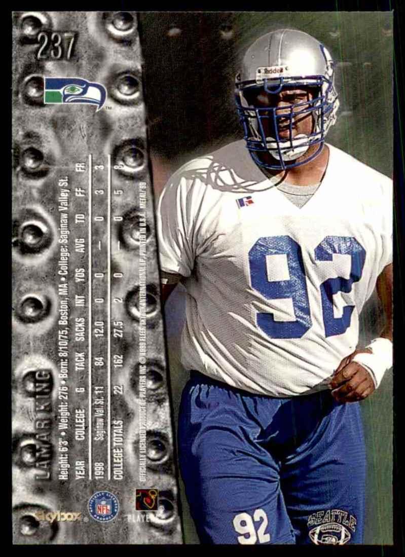 1999 Metal Universe Lamar King #237 card back image