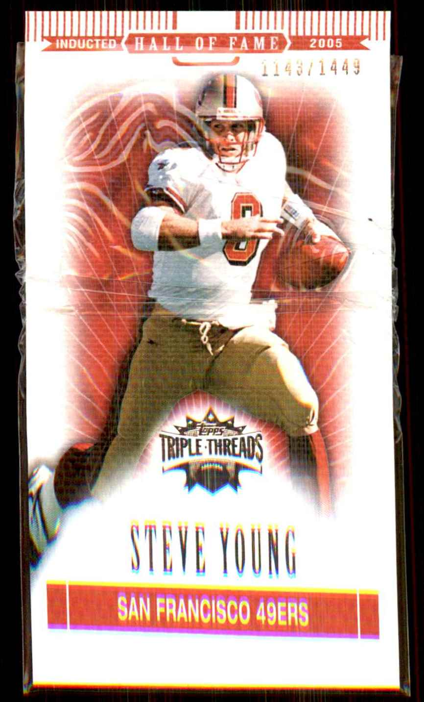 2007 Topps Triple Threads Steve Young #100 card front image