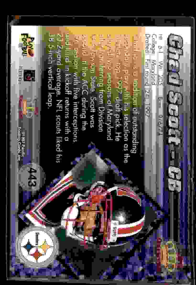 1997 Pacific Chad Scott #443 card back image