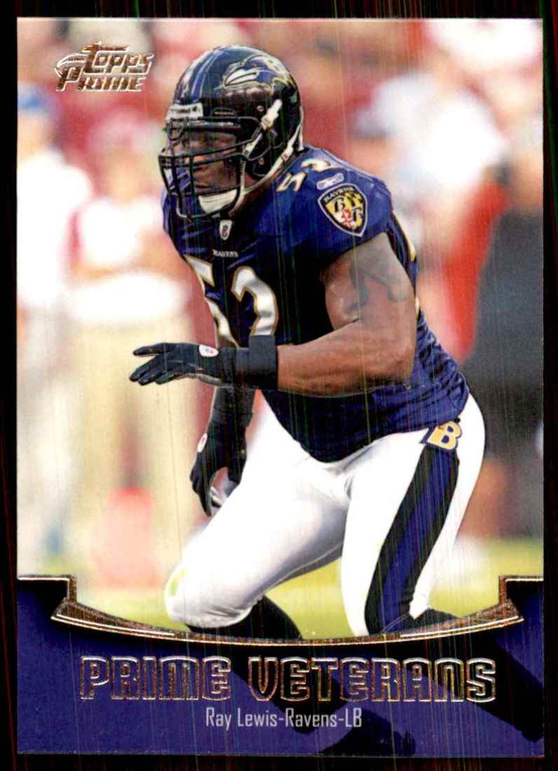 2011 Topps Prime Veteran Ray Lewis #PVRL card front image