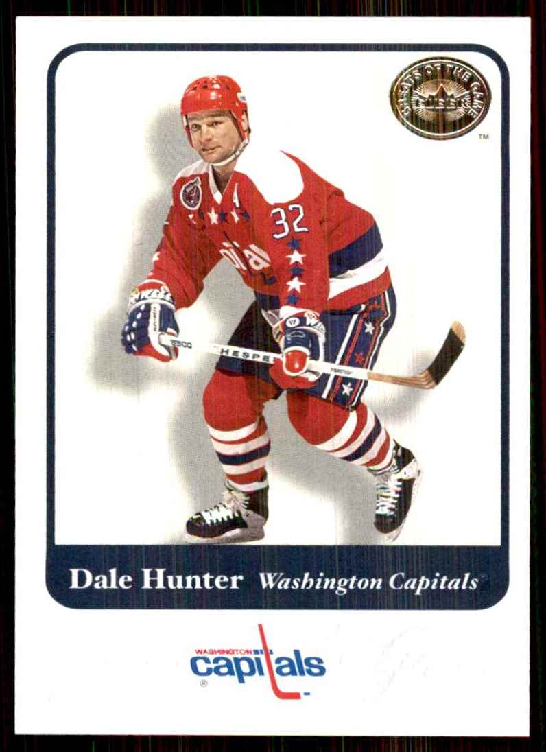 2001-02 Fleer Greats Of The Game Dale Hunter #18 card front image