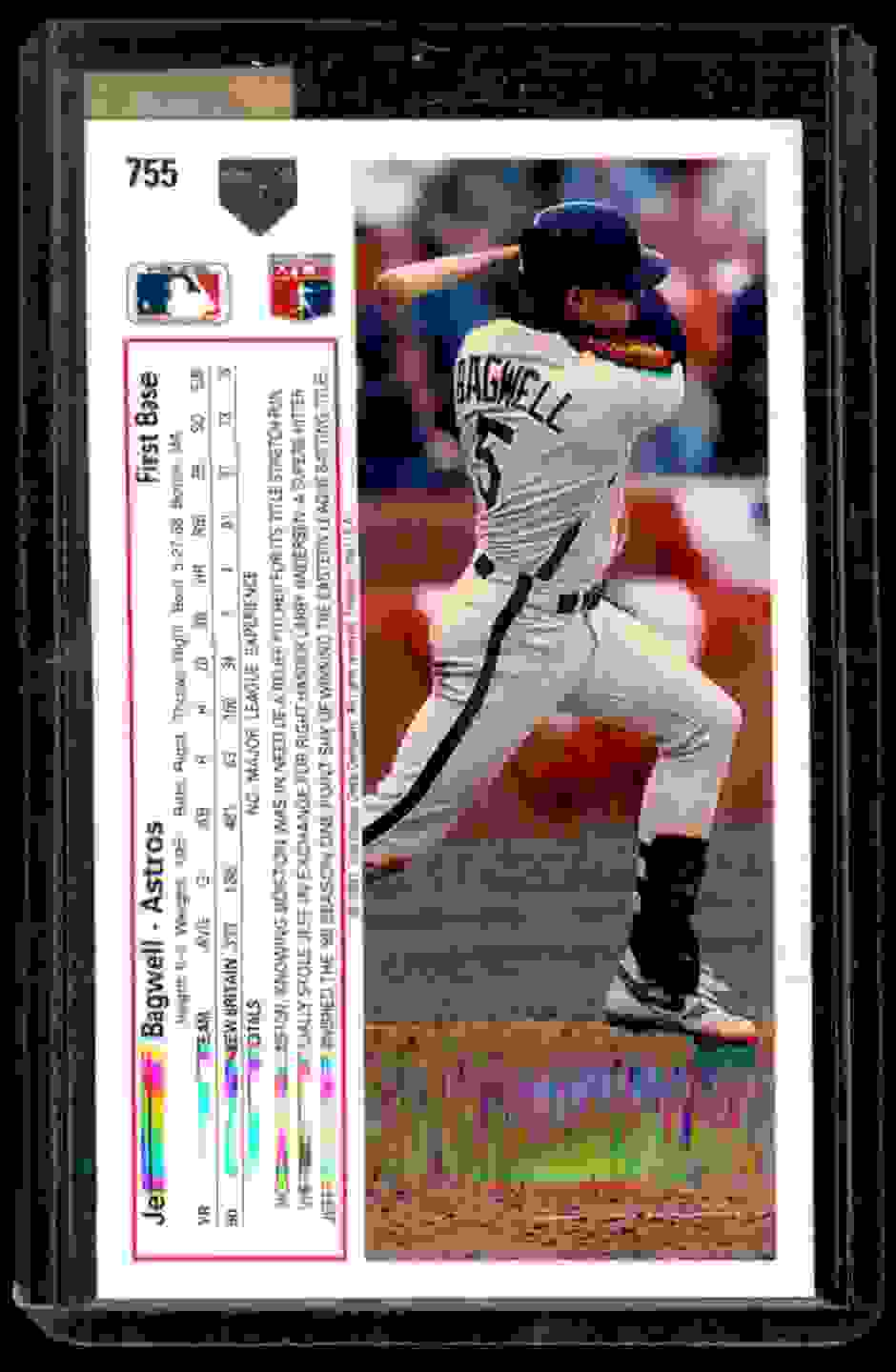 1991 Upper Deck Jeff Bagwell #755 card back image