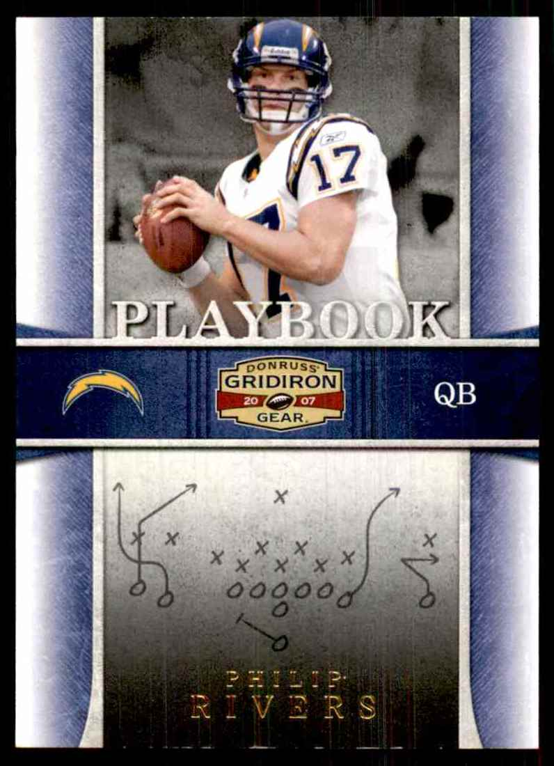 2007 Donruss Gridiron Gear Playbook Gold Philip Rivers #7 card front image
