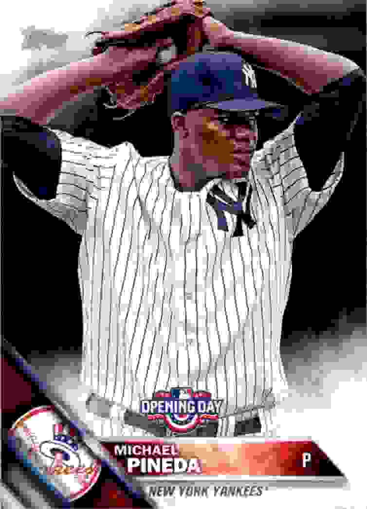 2016 Topps Opening Day Michael Pineda #OD-117 card front image