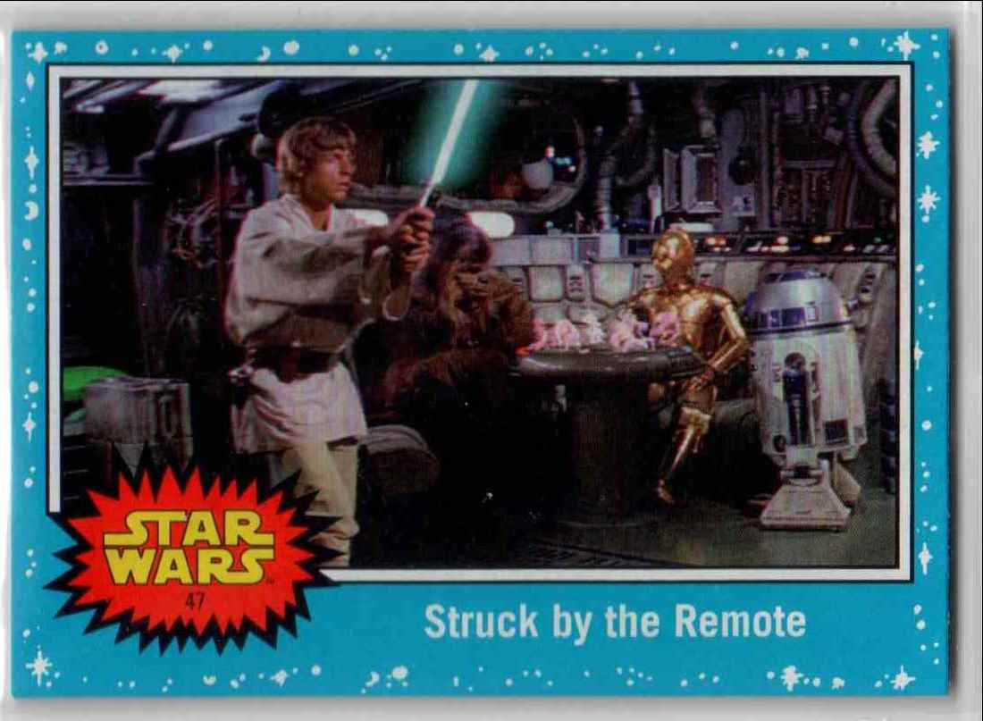 2019 Topps Star Wars Journey To Rise Of Skywalker Struck By The Remote #47 card front image