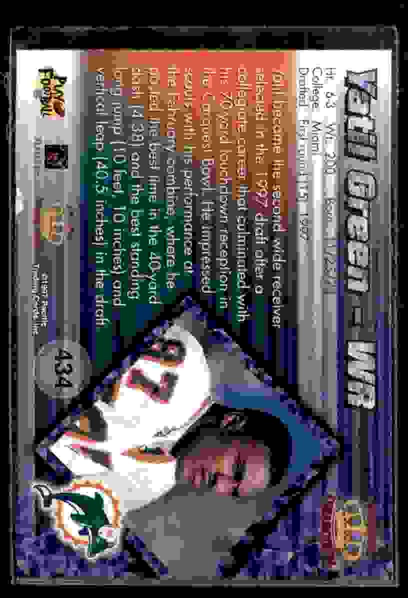 1997 Pacific Yatil Green #434 card back image
