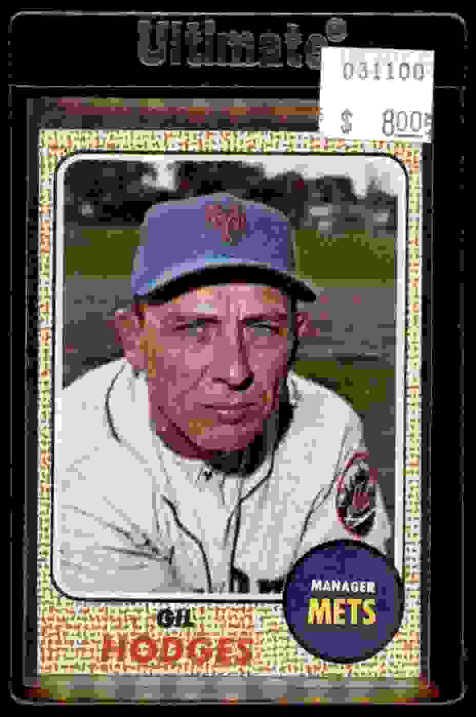 1968 Topps Gil Hodges #27 card front image