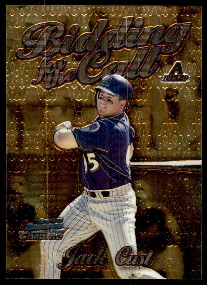 2000 Bowman Chrome Bidding For The Call Jack Cust #BC9 card front image