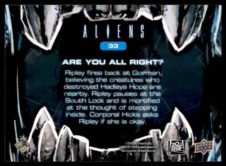2018 Aliens Are You All Right? #33 card back image