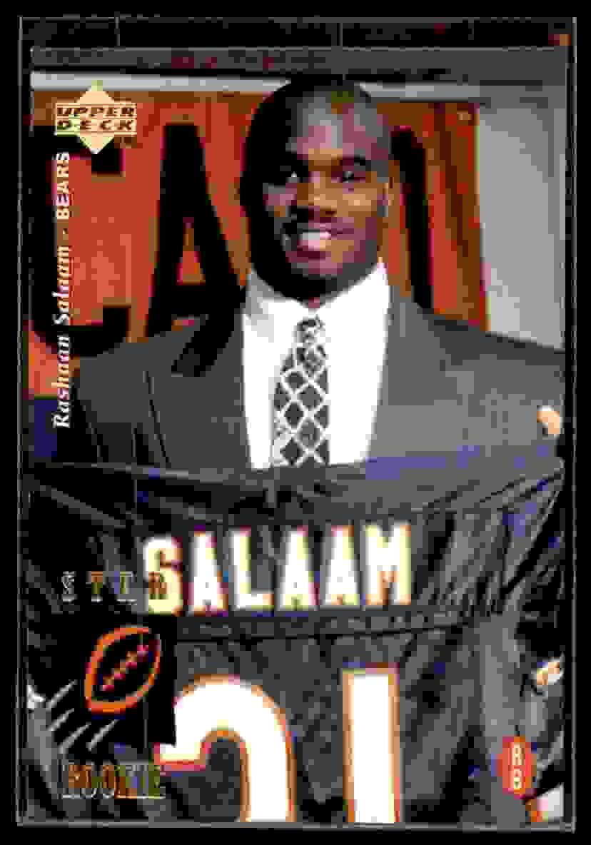 1995 Upper Deck Rashaan Salaam #18 card front image