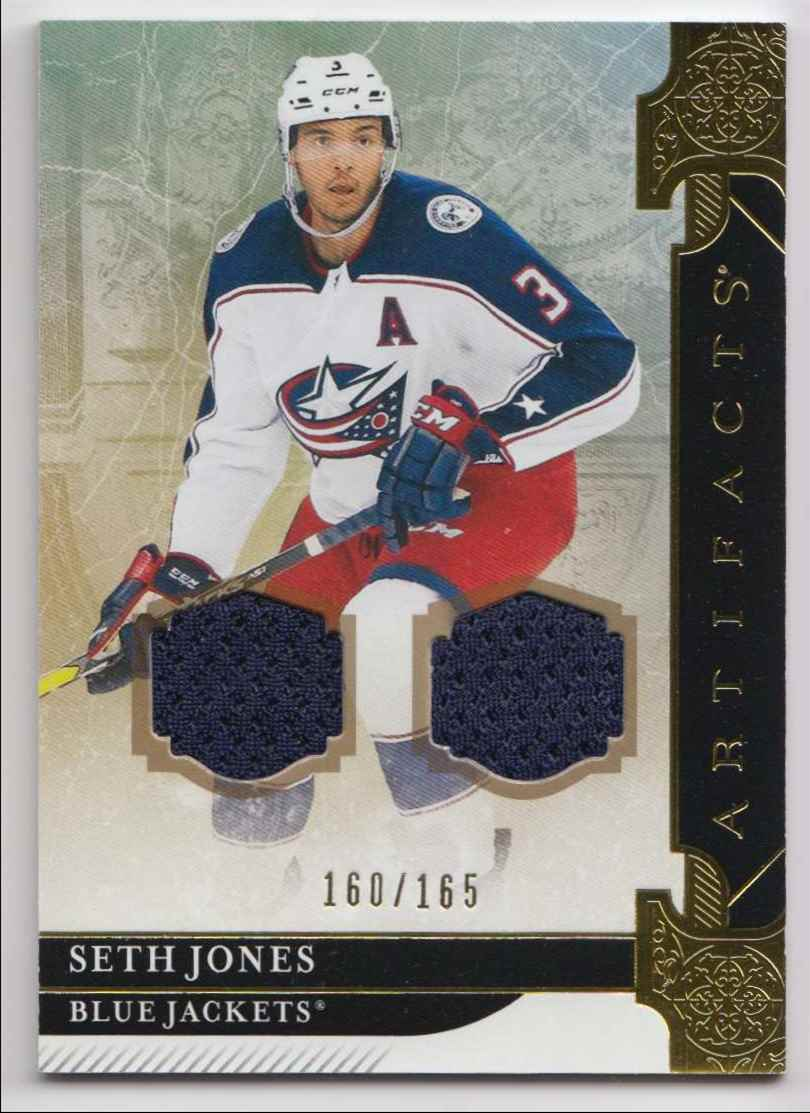 2019-20 Artifacts Materials Gold Seth Jones #90 card front image