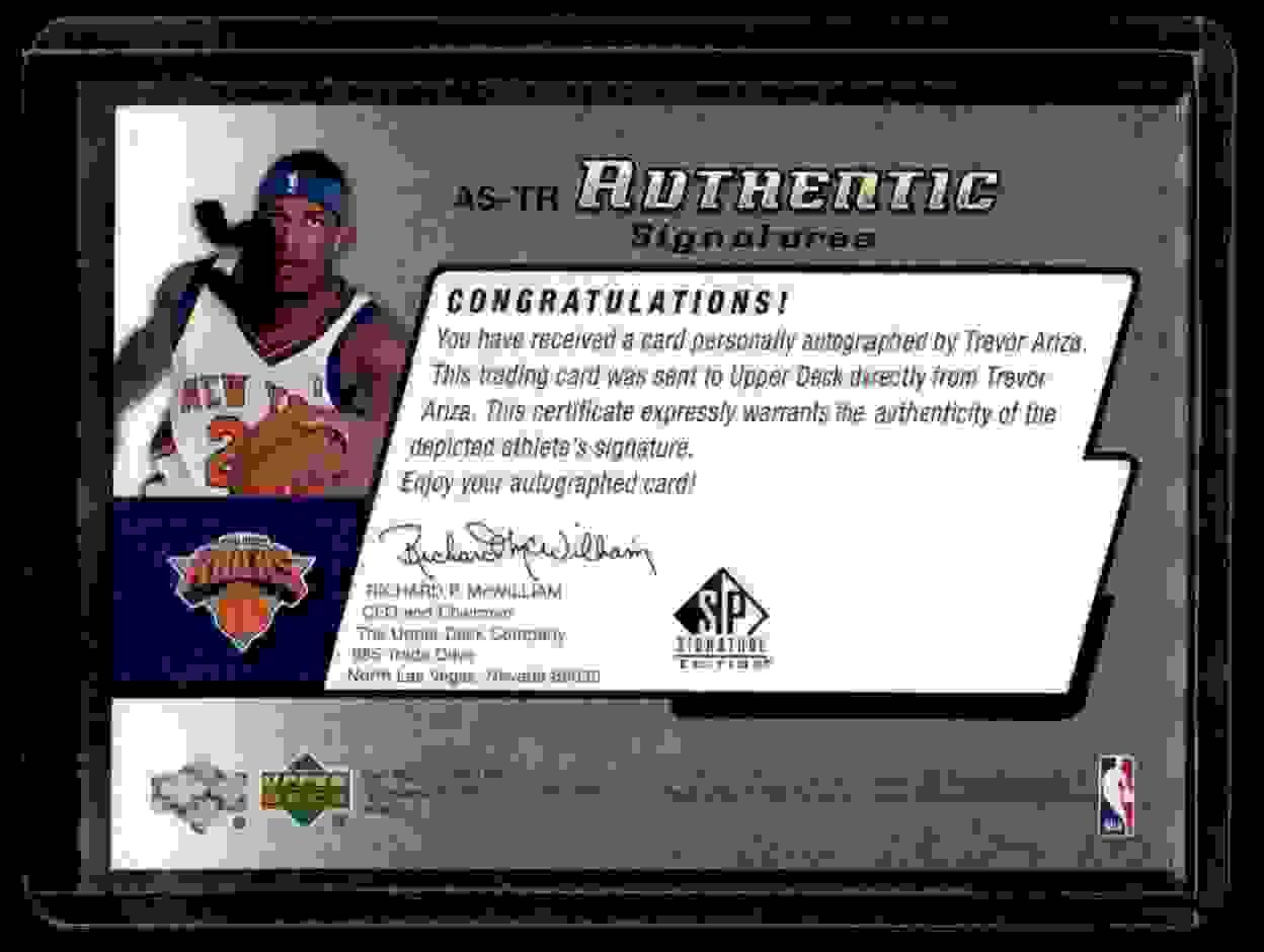 2004-05 SP Signature Edition Signatures Trevor Ariza #TR card back image