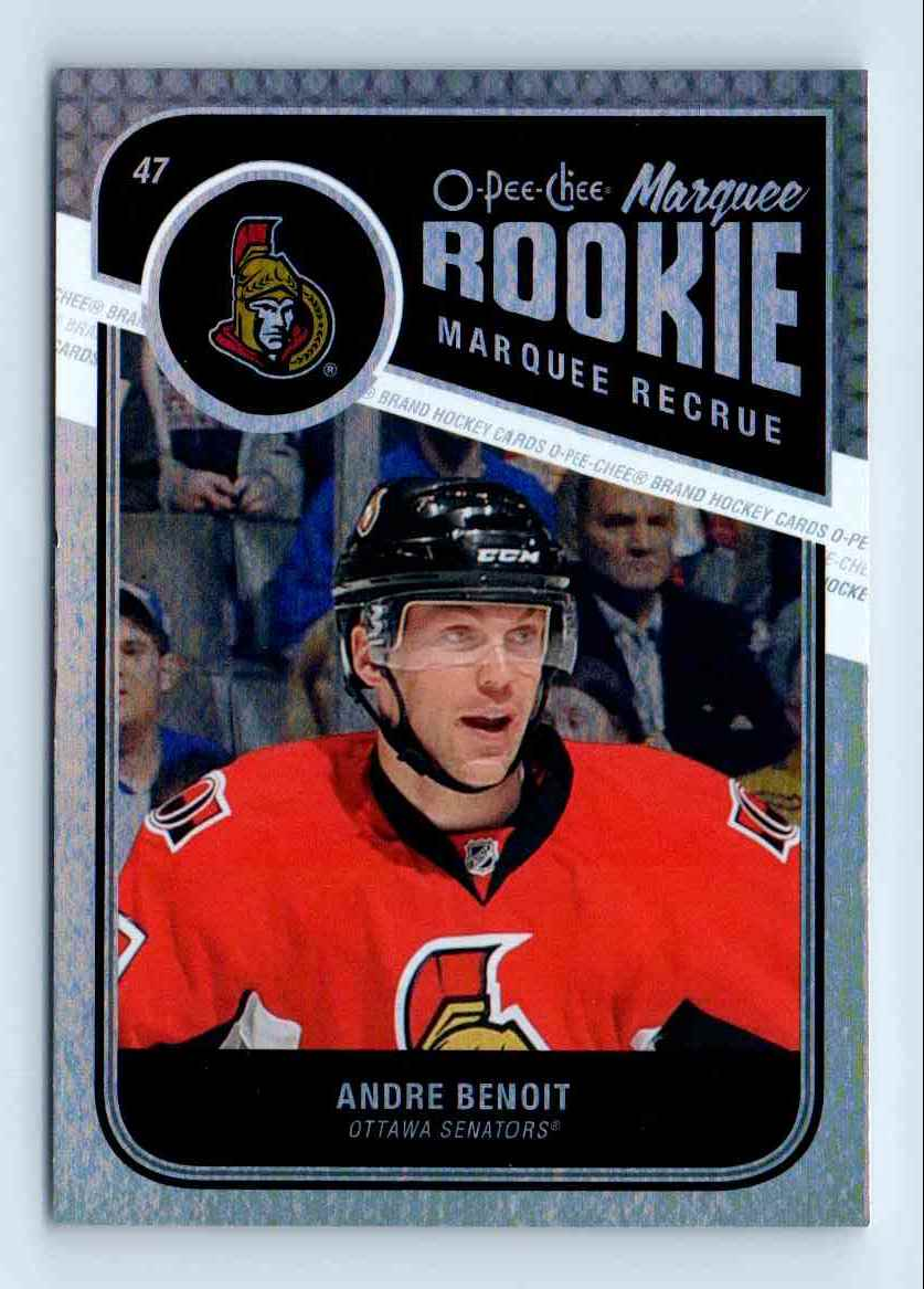 2011-12 O-Pee-Chee Marquee Rookie Andre Benoit #567 card front image