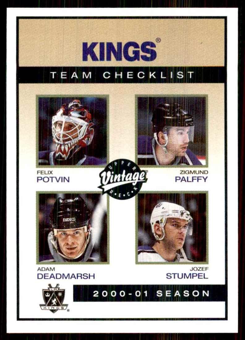 2001-02 Upper Deck Vintage Kings CL/Felix Potvin/Zigmund Palffy/Adam Deadmarsh/Jozef Stumpel #122 card front image