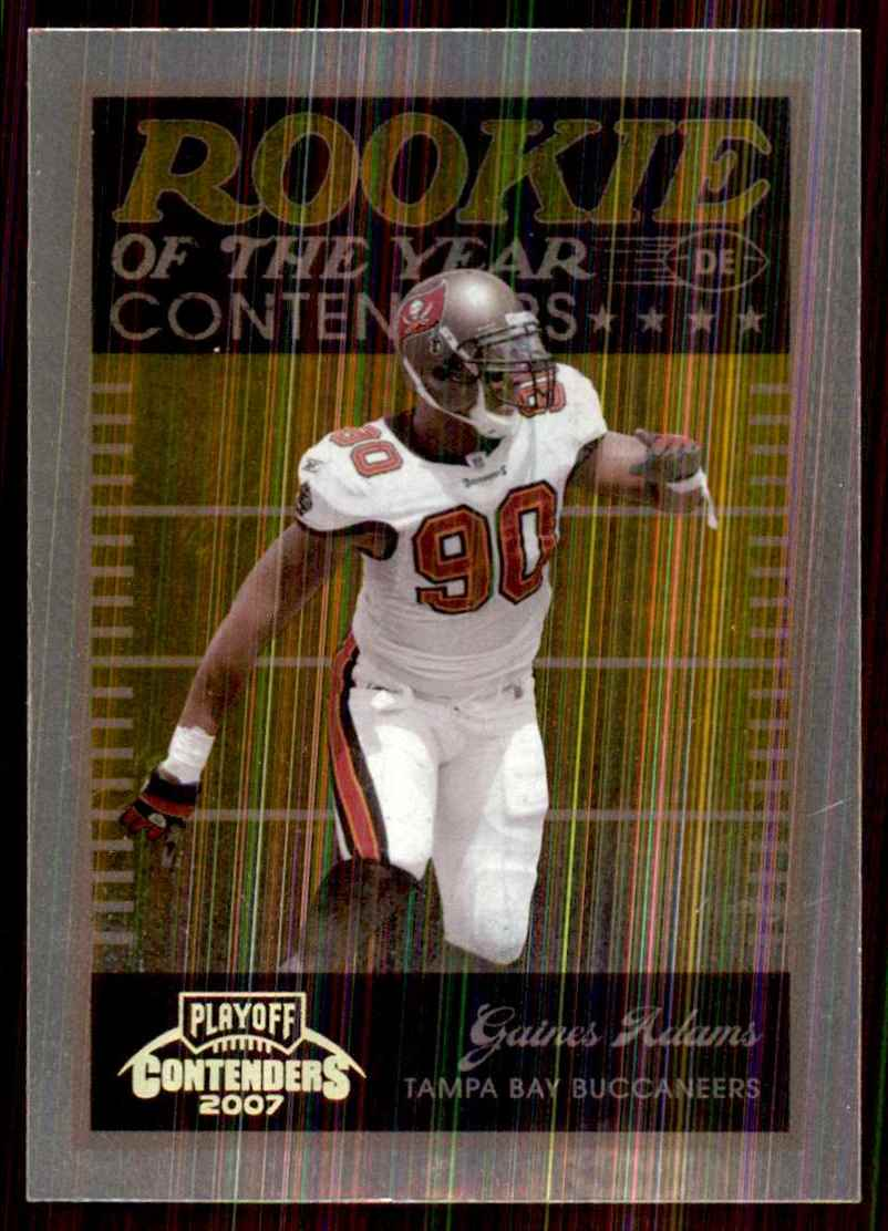 2007 Playoff Contenders Roy Contenders Gold Holofoil Gaines Adams #13 card front image