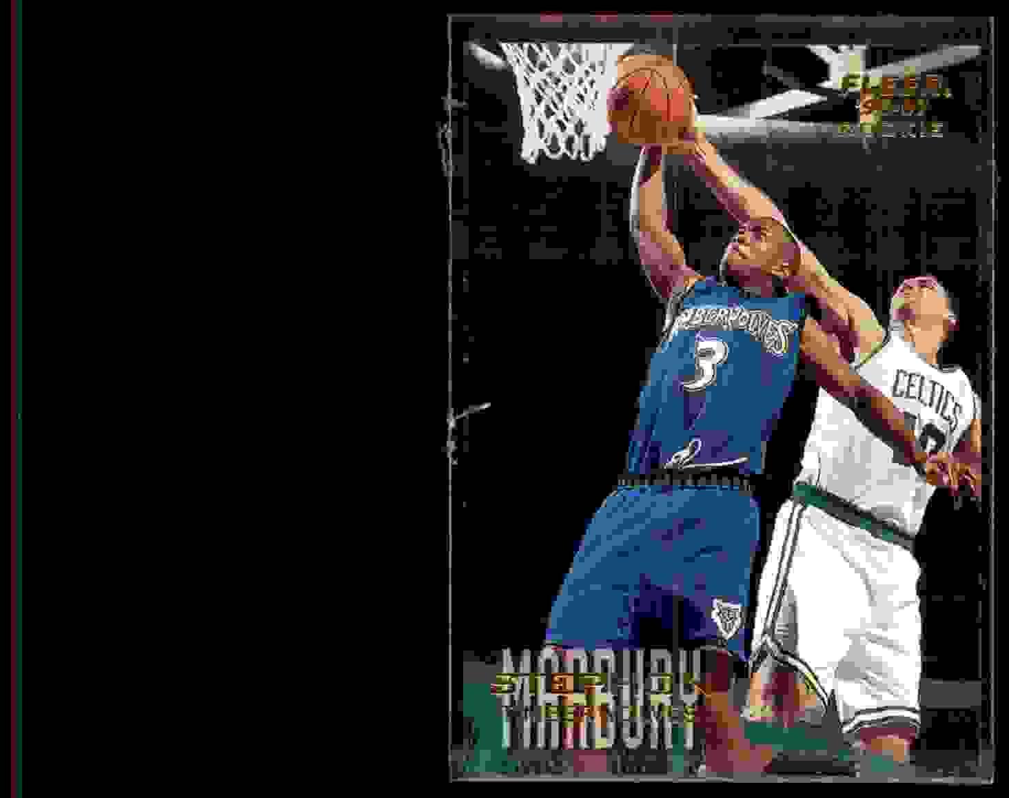 1996-97 Fleer Stephon Marbury RC #219 card front image