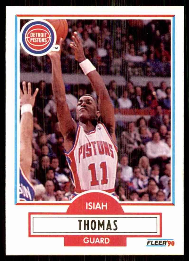 1990-91 Fleer Isiah Thomas #61 card front image